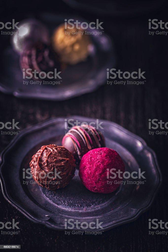 Finest Chocolate Pralines royalty-free stock photo