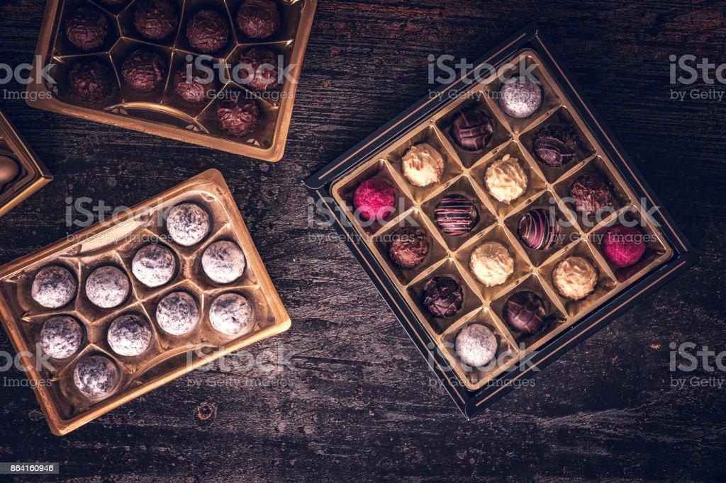 Finest Chocolate Truffle Pralines royalty-free stock photo