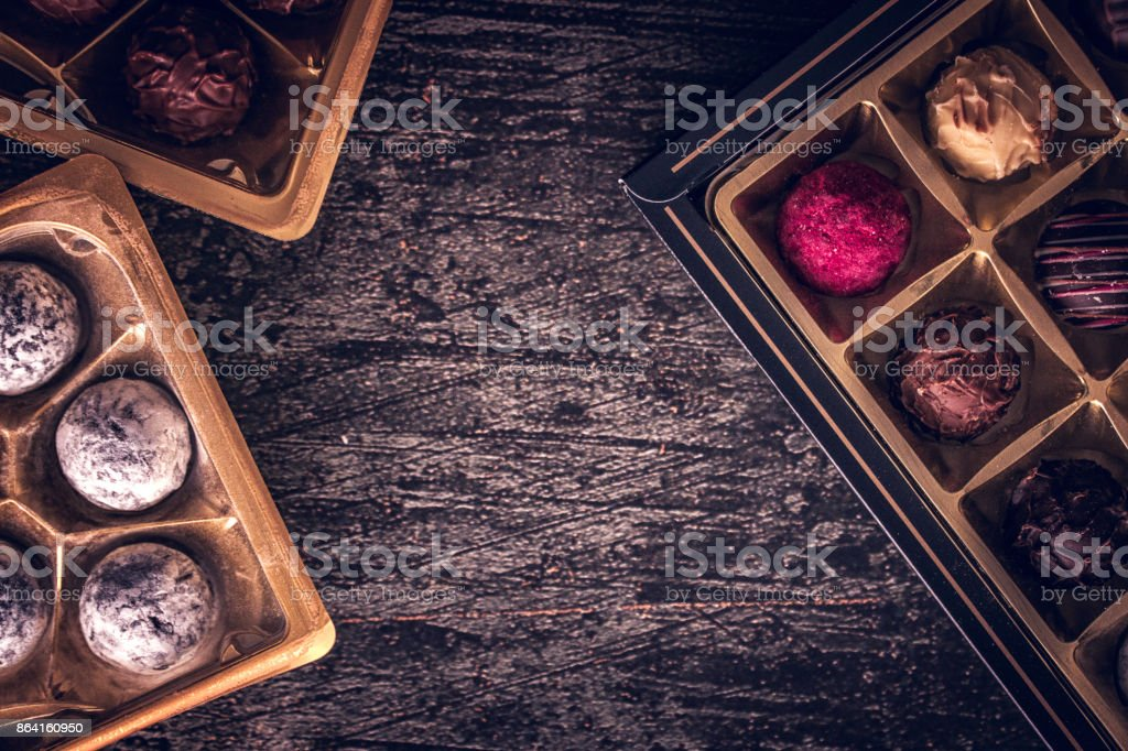 Finest Chocolate Truffle Pralines royalty-free stock photo