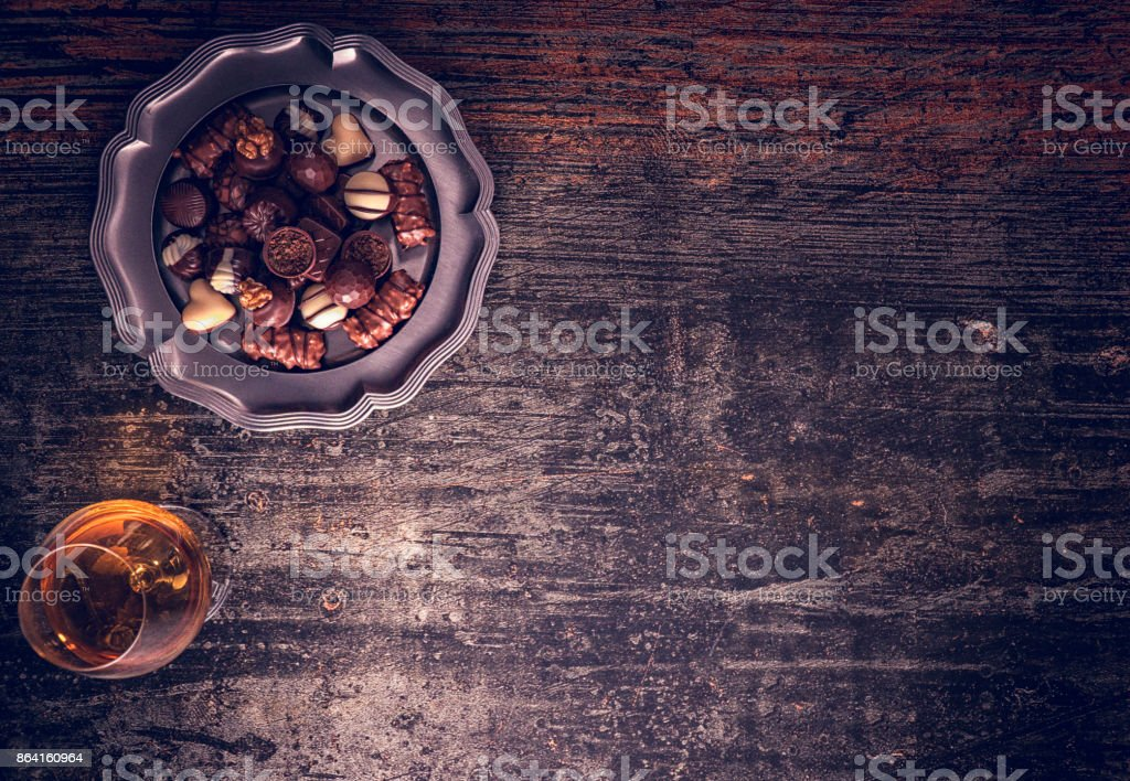 Finest Homemade Chocolate Pralines royalty-free stock photo