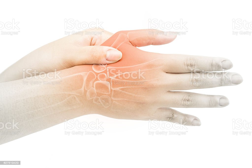 finger bone pain stock photo