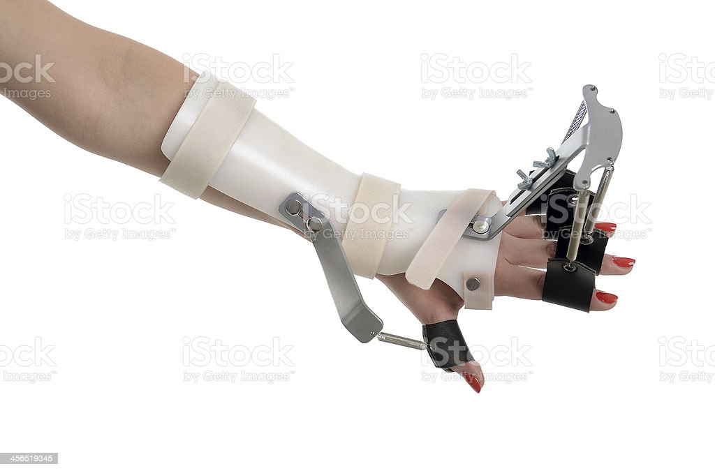 Finger Brace stock photo