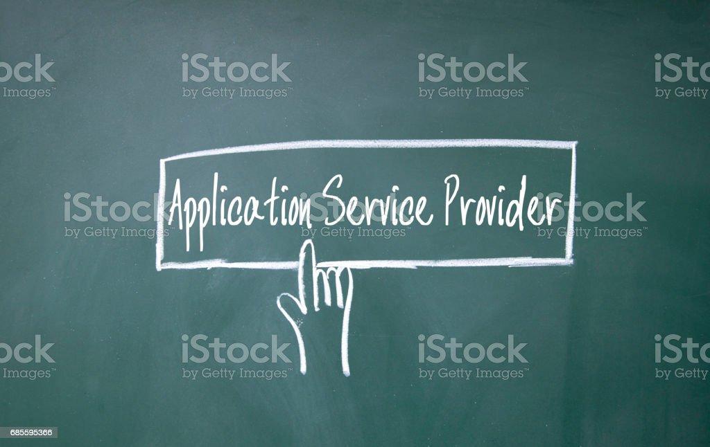 dedo, clique em símbolo de provedor de serviço de aplicativo - foto de acervo