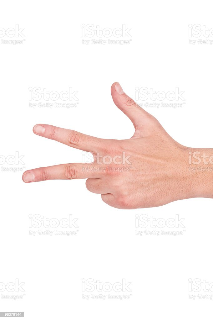 Finger Counting royalty-free stock photo