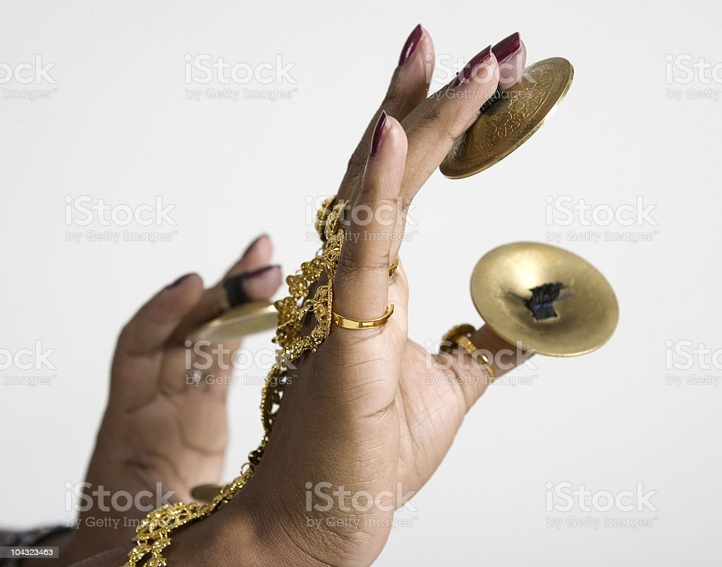 Finger Cymbals royalty-free stock photo