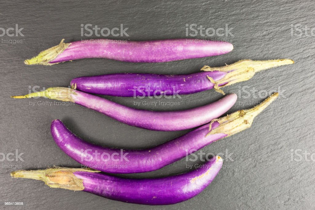 finger eggplant royalty-free stock photo