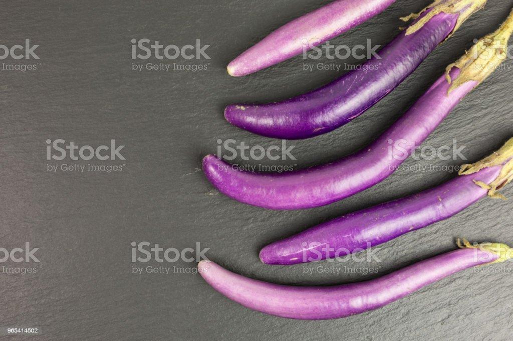 finger eggplant zbiór zdjęć royalty-free