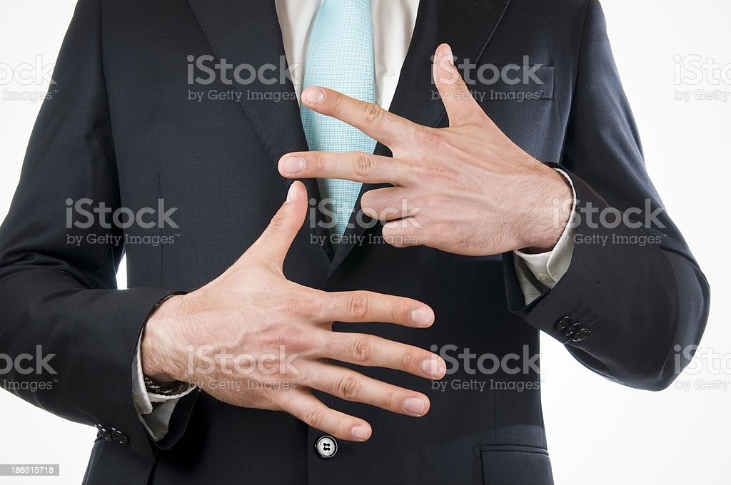 finger eight royalty-free stock photo