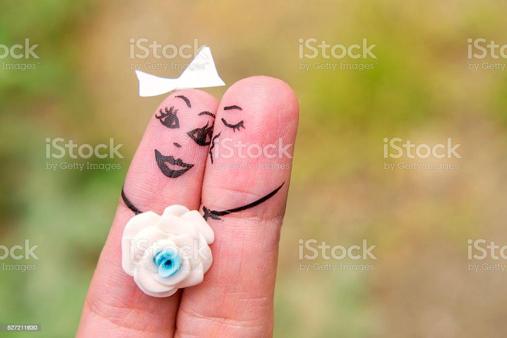 Finger Family. Art of hand stock photo