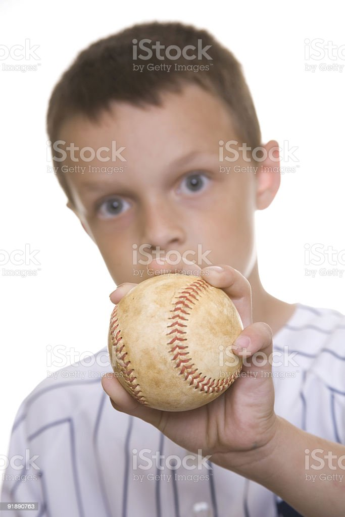 Finger Focus young baseball player royalty-free stock photo