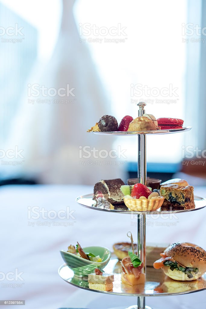 Finger Food appetizer in Wedding day. stock photo