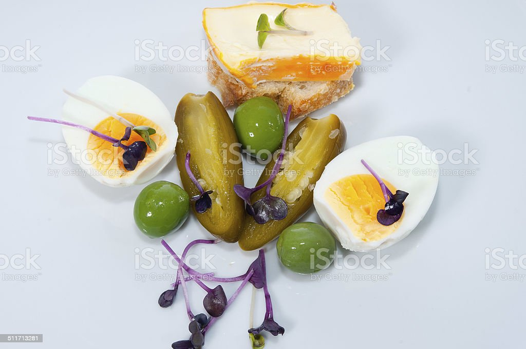 Fingerfood on china stock photo