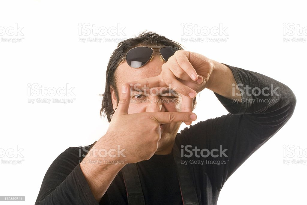 Hacer un marco con los dedos foto de stock libre de derechos