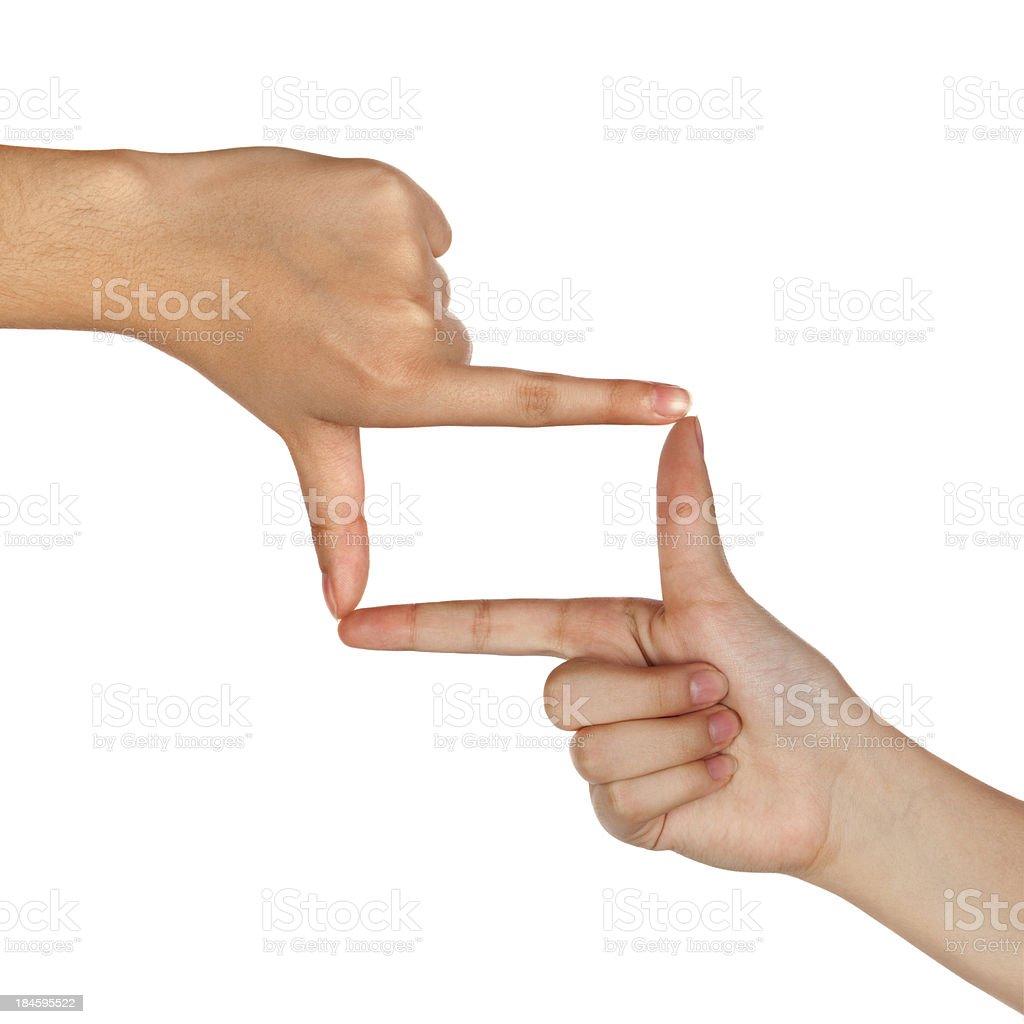 Finger frame stock photo
