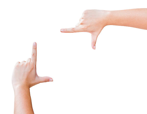 指フレーム - 親指 ストックフォトと画像