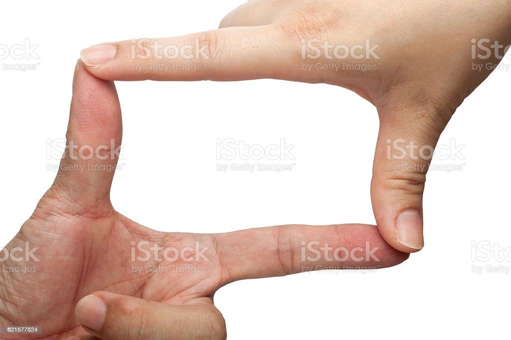 Cadrage avec les doigts photo libre de droits