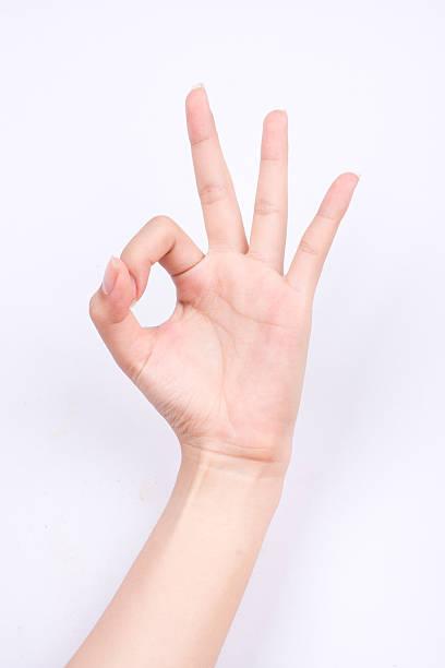 finger hand girl symbols hand gesturing sign ok okay agree – Foto