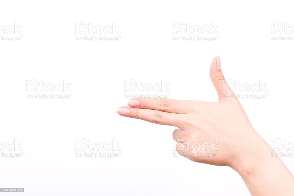 finger hand symbols isolated concept aim pointing gun hand killer stock photo