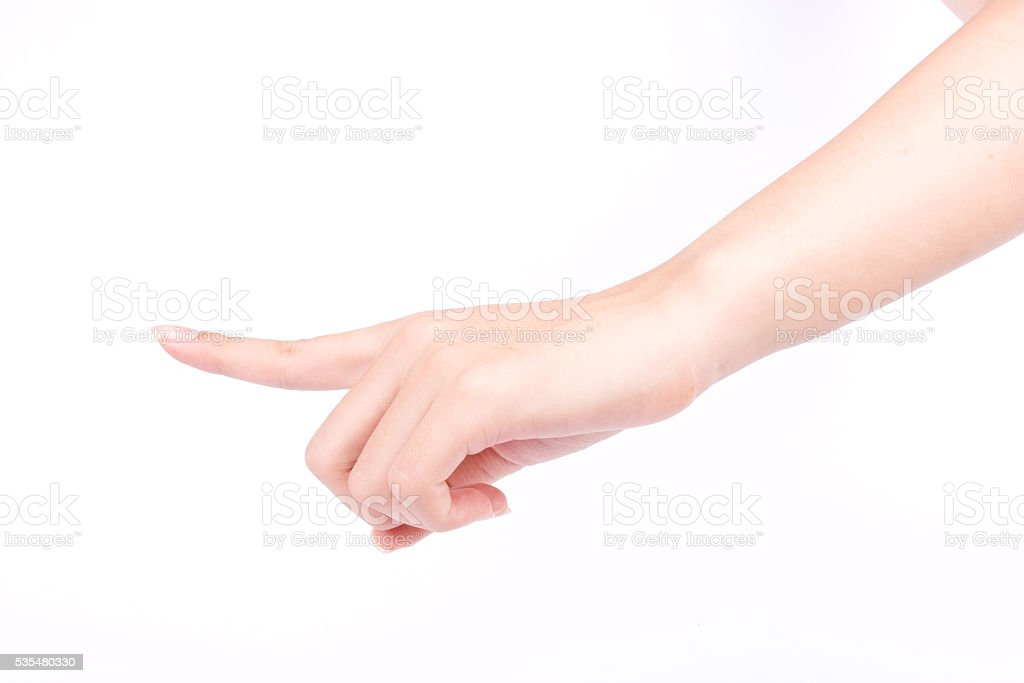 finger hand symbols isolated the concept touch screen digital idea stock photo