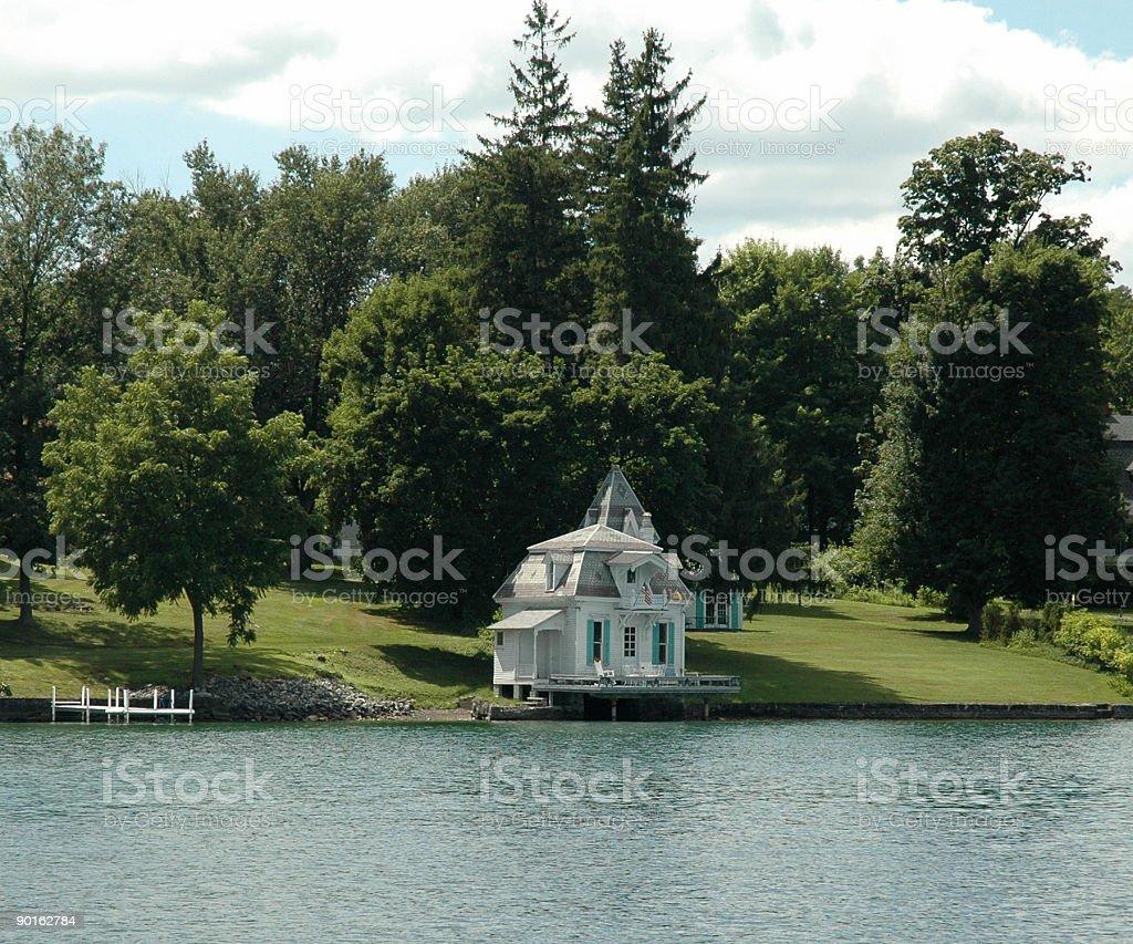 Finger Lakes: Skaneateles Lake Boathouse stock photo