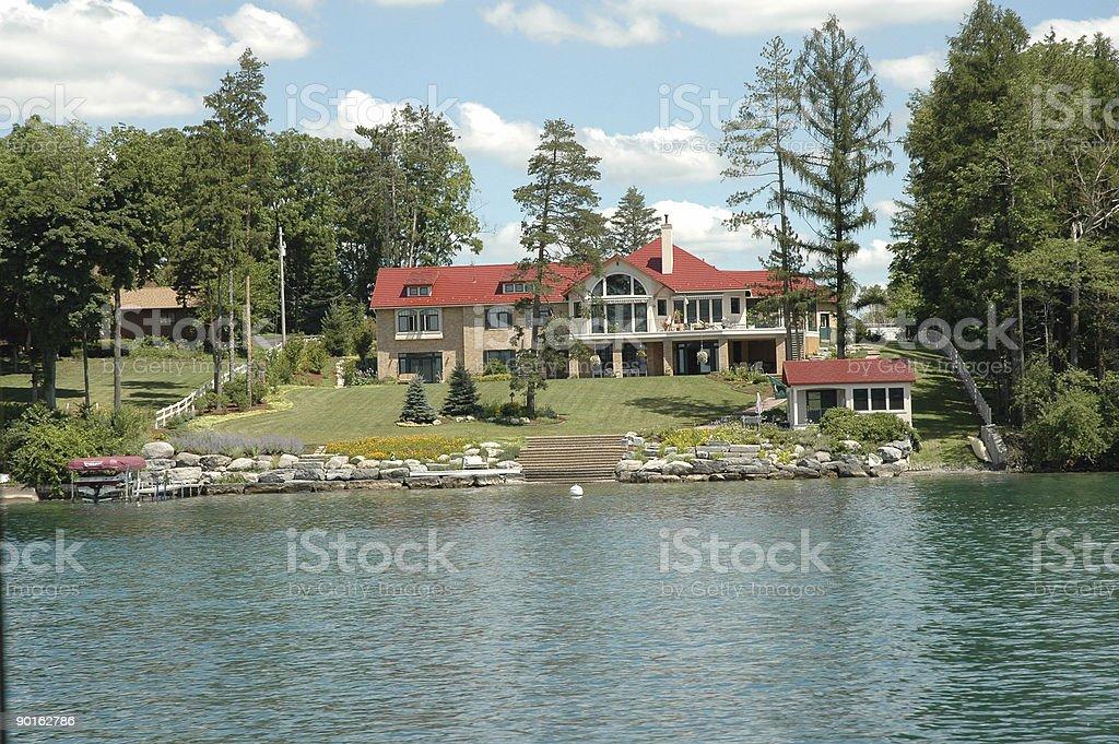 Finger Lakes - Skaneateles Lake-front Mansion stock photo
