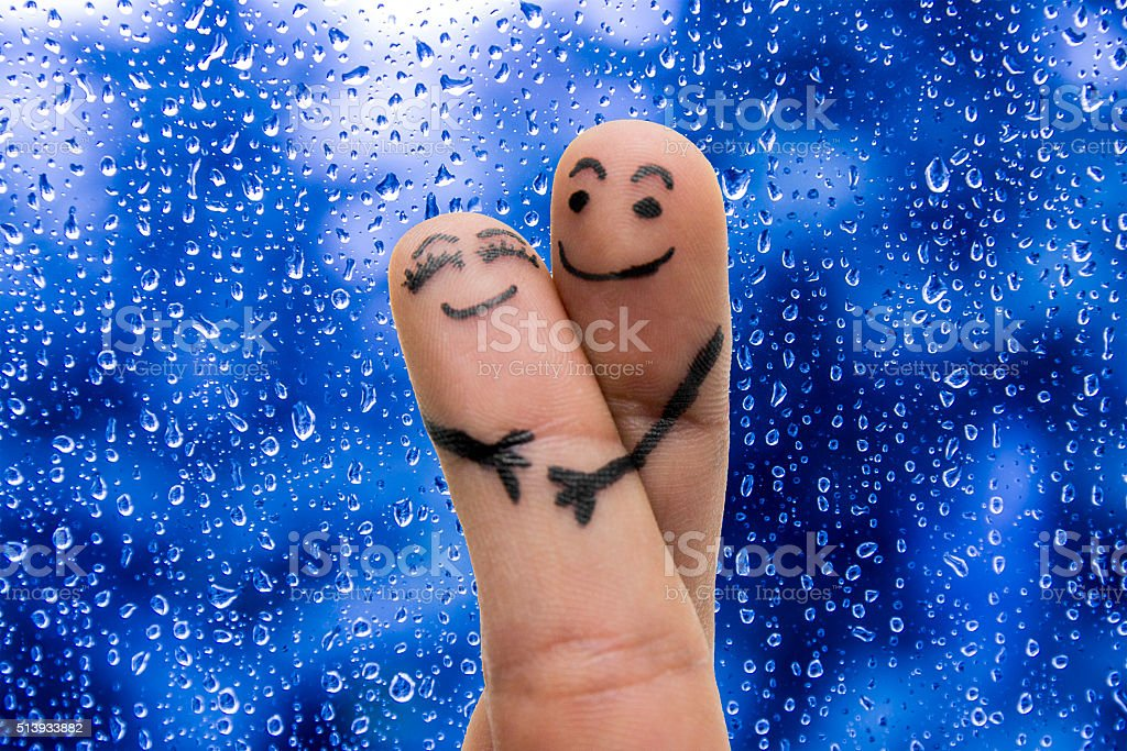 finger lovers stock photo