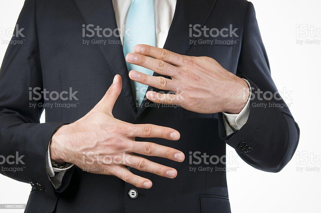 finger nine royalty-free stock photo