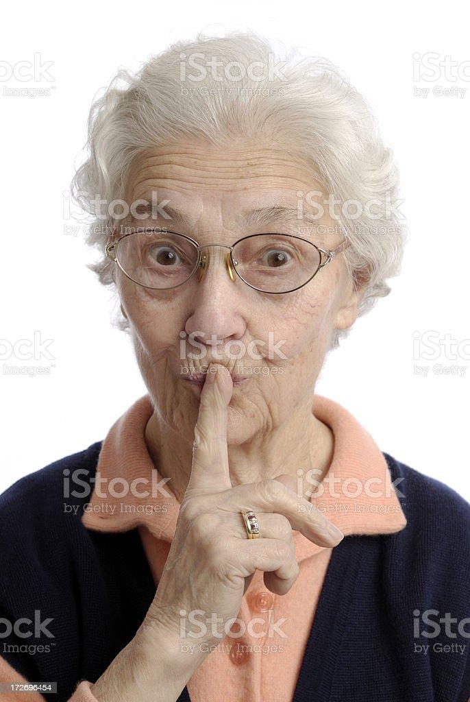 Finger on lips royalty-free stock photo