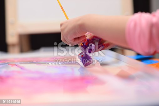 154371635istockphoto Finger painting 911914546