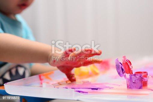 154371635istockphoto Finger painting 911914572