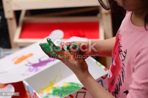 154371635istockphoto Finger painting 911914622
