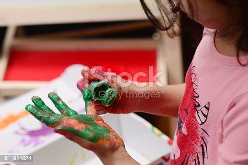 154371635istockphoto Finger painting 911914624
