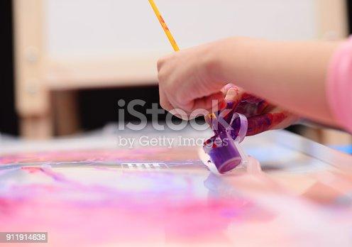 154371635istockphoto Finger painting 911914638