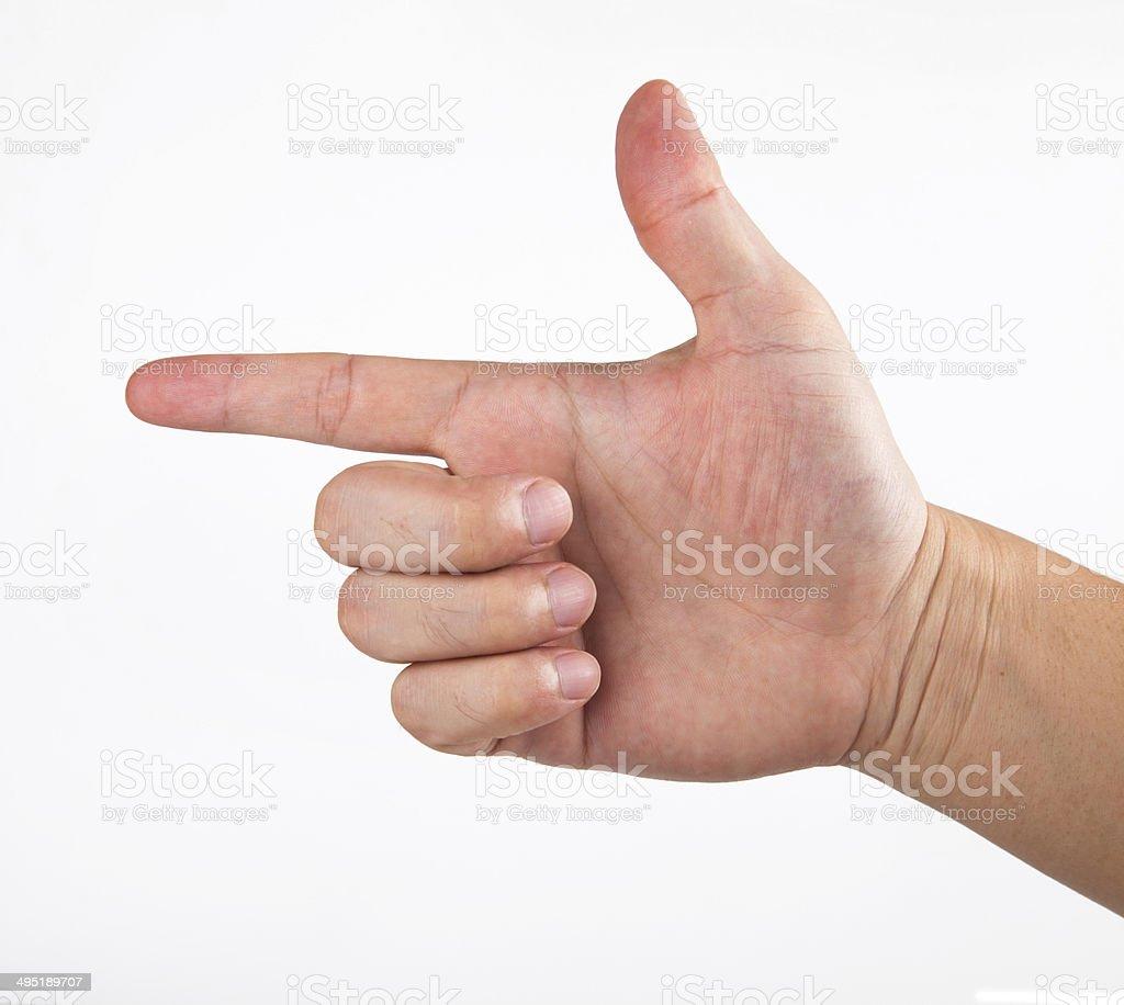 finger point stock photo
