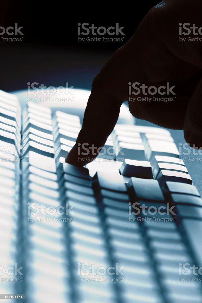 finger pressing key royalty-free stock photo