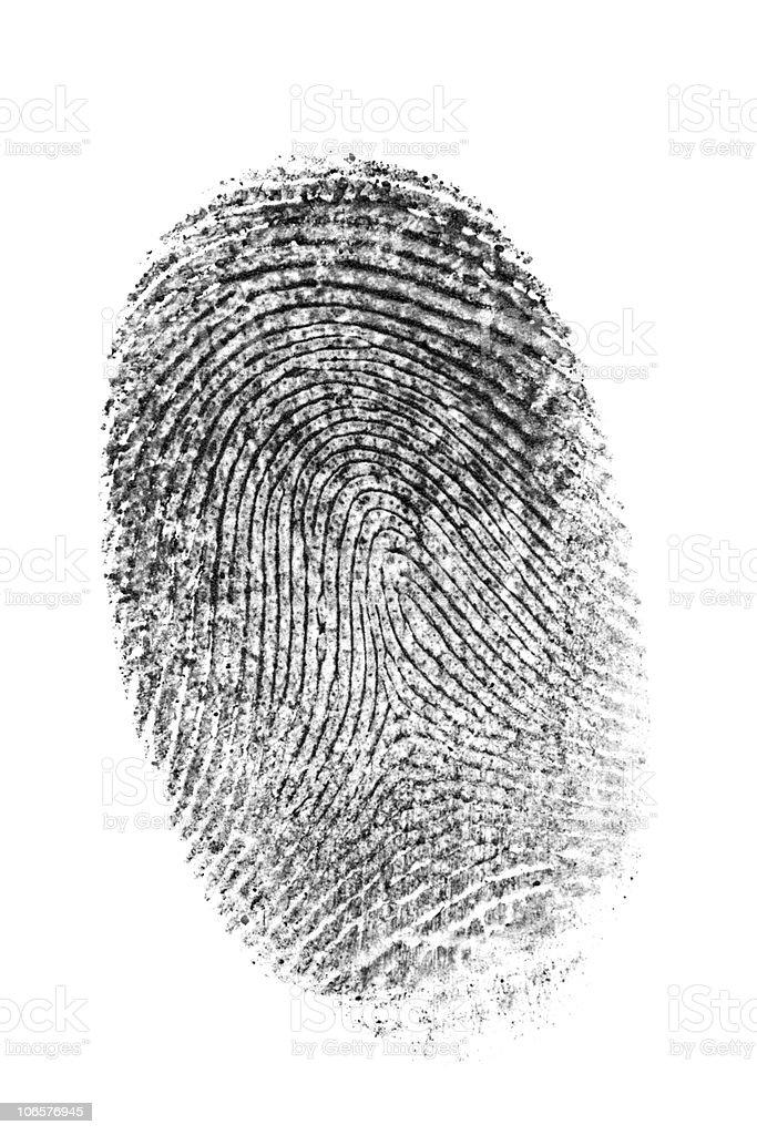 Finger print. royalty-free stock photo