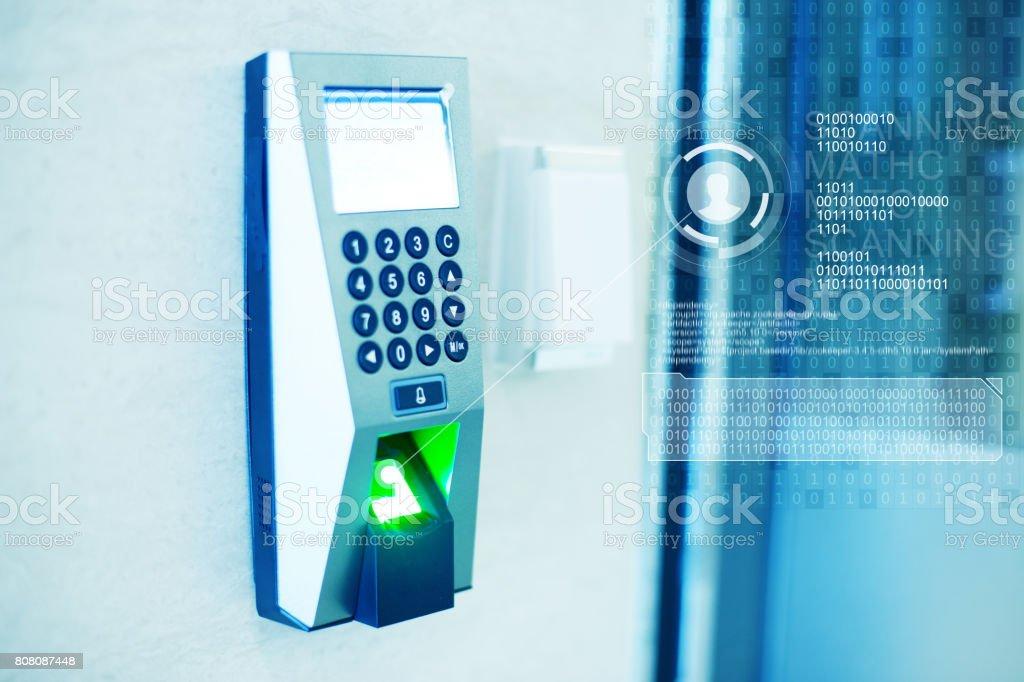 finger print scanner stock photo