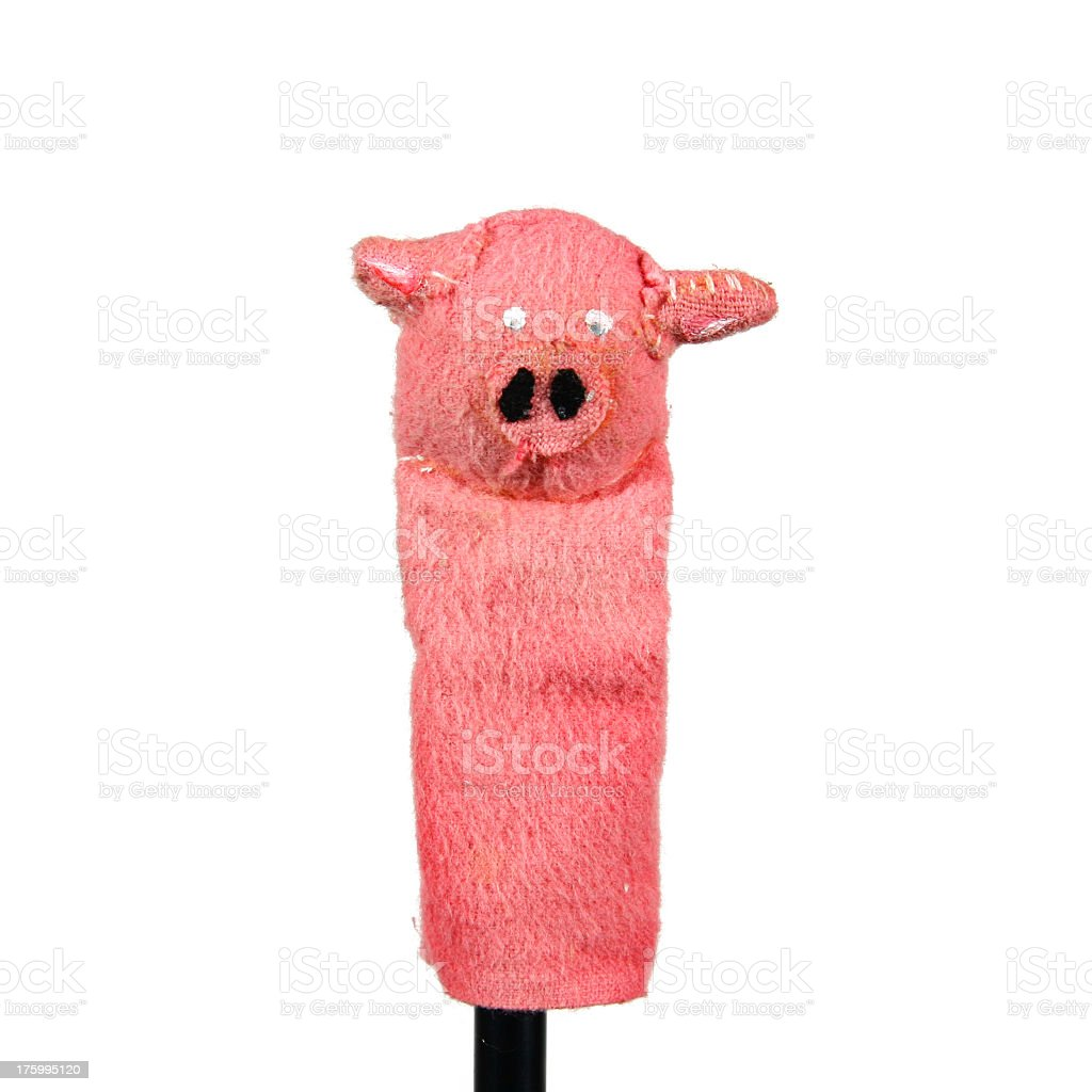 Finger Puppet - Pig royalty-free stock photo
