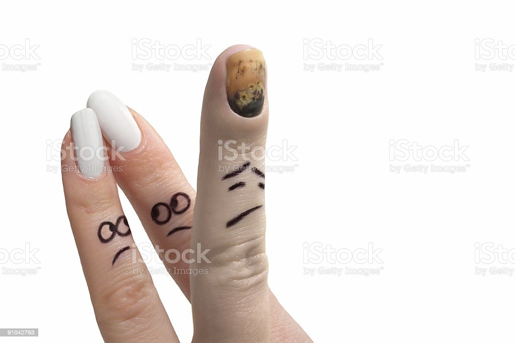 Finger show royalty-free stock photo
