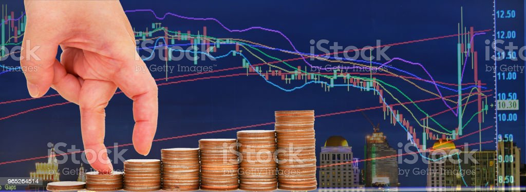 Finger step growing growth saving money concept royalty-free stock photo