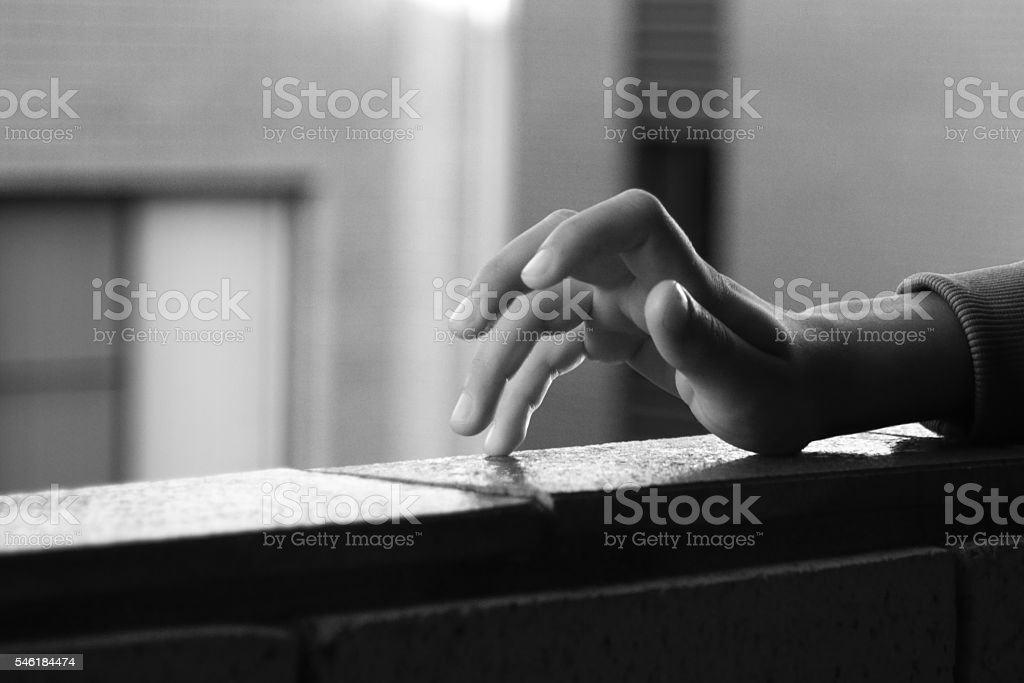 Finger tapping stock photo