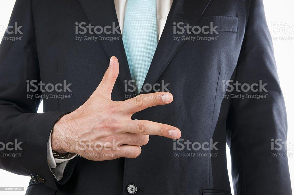 finger three royalty-free stock photo