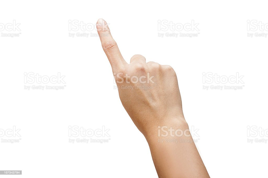 Finger Touch Virtual Screen Isolated stock photo