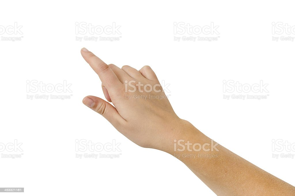 Finger Touch Virtual Screen Isolated - Stock Image. stock photo