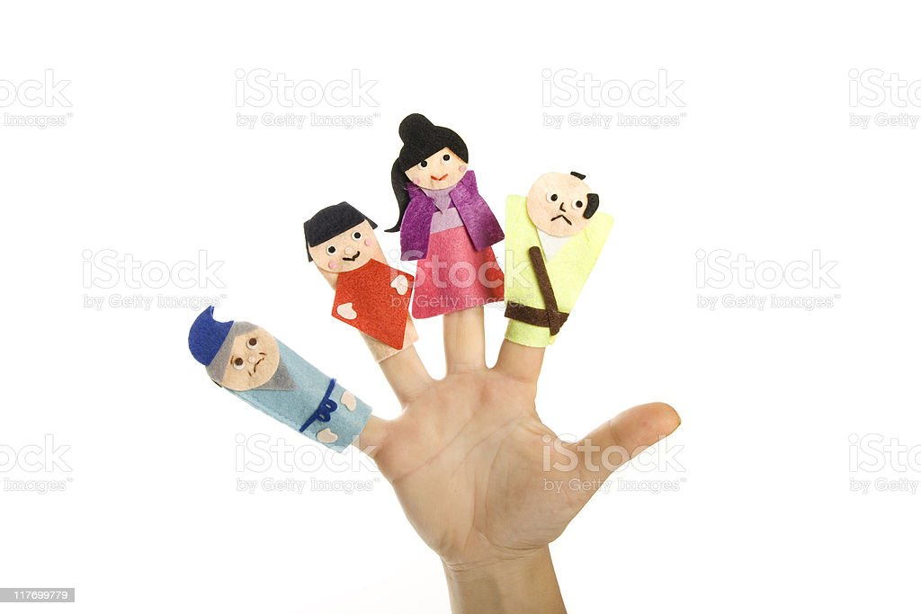 Finger toys series stock photo