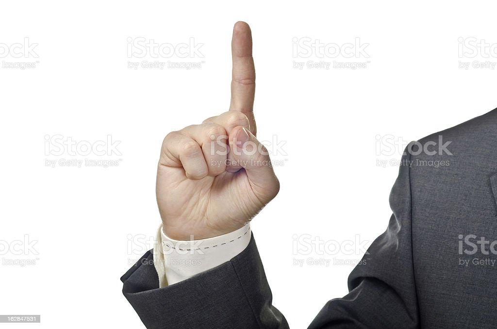 Finger up stock photo