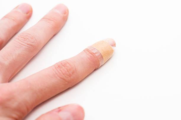 Finger with Bandage stock photo