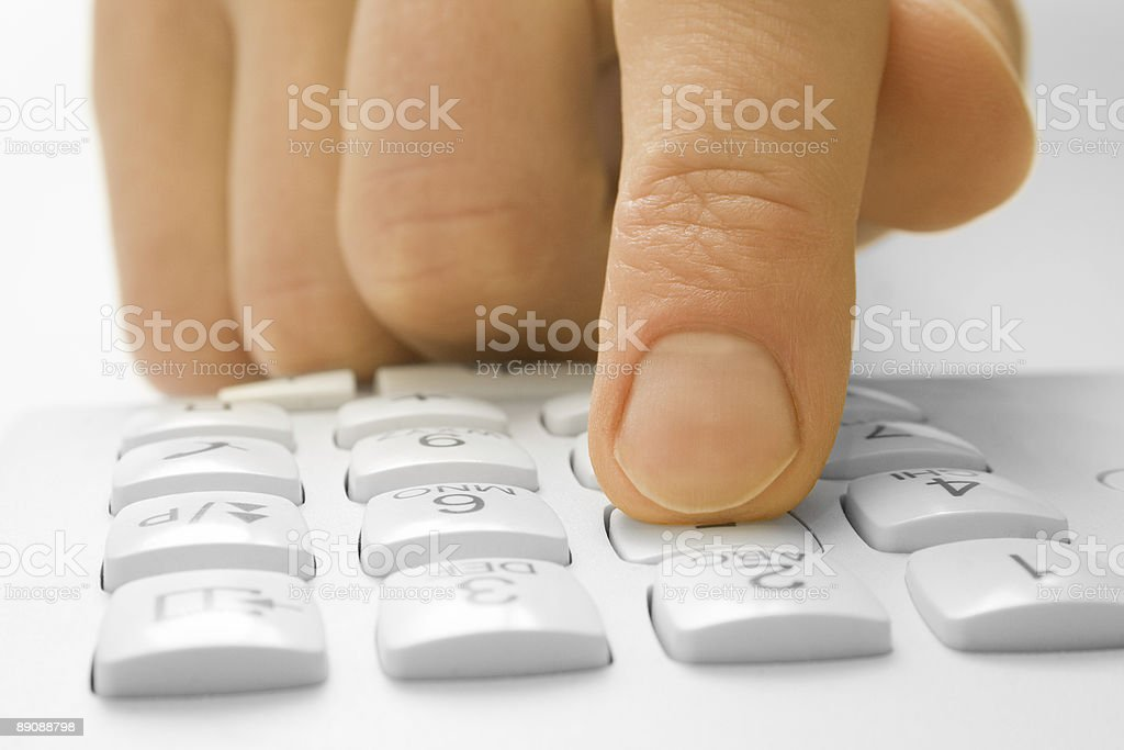 finger with phone royalty-free stock photo