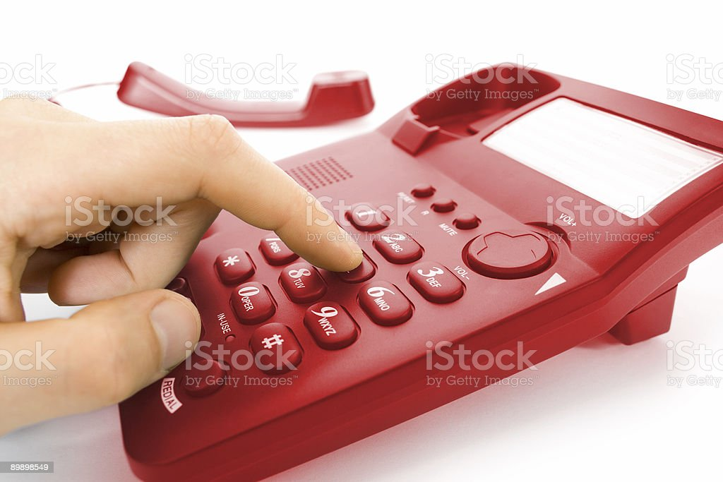 finger with telephone royalty-free stock photo