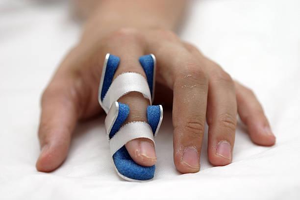 finger_splint stock photo